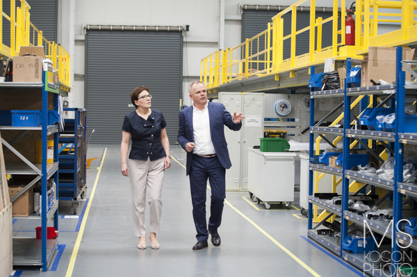 Wizyta premier Ewy Kopacz w zakładach Newag S.A.