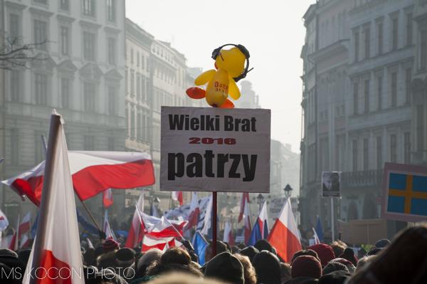 Manifestacja KOD-u w Krakowie